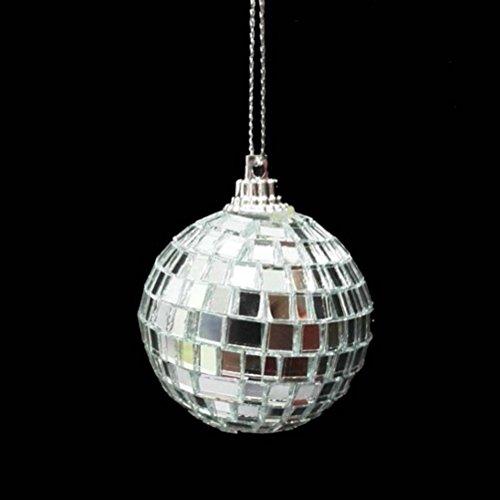 Amosfun Weihnachtsbaum hängende Ornamente Glitter Christbaumkugeln Ornamente Anhänger Weihnachtsdekoration 5cm - 6pcs (Silber) -
