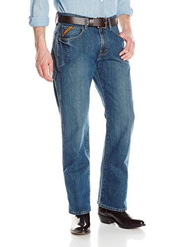 Ariat Men's M4 Rebar Low Rise Bootcut Stretch Jean, Carbine, 38x32 -