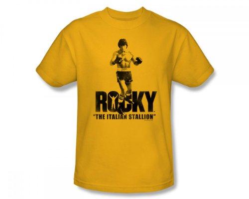 Rocky - Die italienische Hengst Slim Fit Adult T-Shirt In Gold, XX-Large, Gold