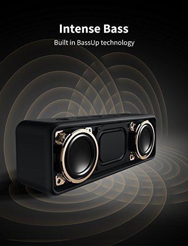 Anker SoundCore 2 Bluetooth Lautsprecher, Duale Bass-Treiber, 24h Wiedergabe, 20m Reichweite, Verbesserter IPX7 Wasserschutz, mit eingebautem Mikrofon, Kabelloser Lautsprecher für iPhone, Samsung usw.