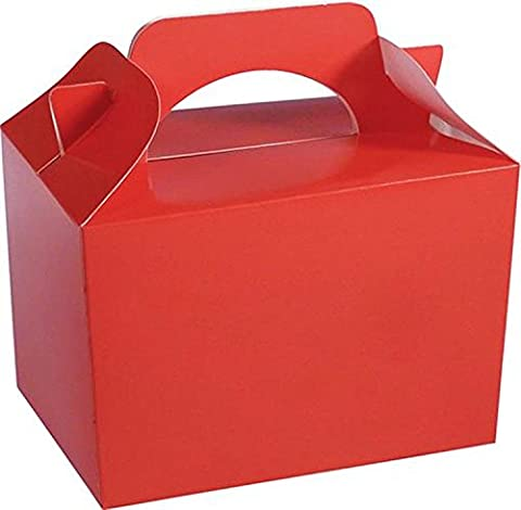 10 x RED Kid Childrens Plain Activity Food Loot Favour Birthday Party Bag Gift Box Wedding Toy Christmas