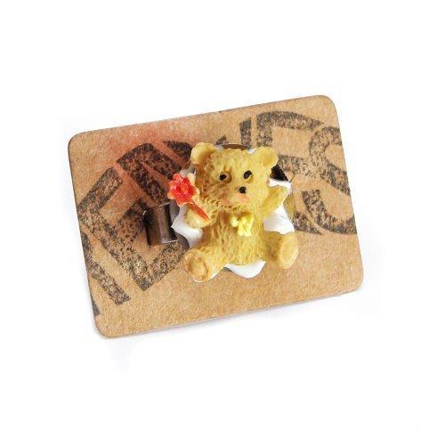 Teddy Bär Ring silber - verstellbare Größe - Teddybär Kuschelbär (Kostüme Ted Teddy Bär)