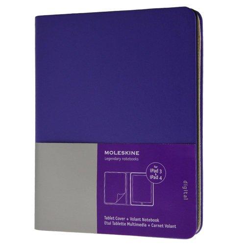 Moleskine - Funda iPad 3 y 4, color violeta brillante + cuaderno