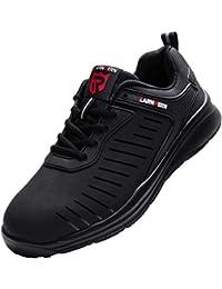 LARNMERN Zapatos Seguridad Punta de Acero para Hombre Mujer S1 Zapatillas Seguridad Ligeras Antideslizante