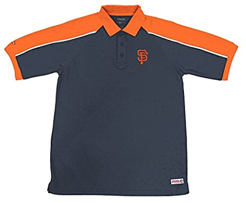 MLB San Francisco Giants Color Blocked Polo with Lined Mini Mesh Panels, Black, X-Large