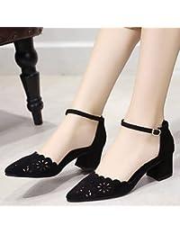 zhENfu Tacones Mujer primavera otoño zapatos Club Comfort Suede Ahuecar respirar Freelyoffice & Carrera parte & incluso