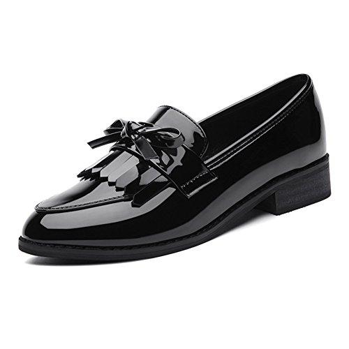 Petites chaussures dames/Collège wild wind talon/Rétro éclairage rond tête chaussure A