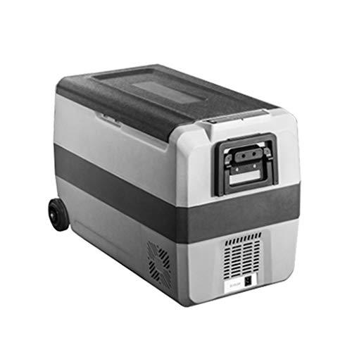 Lxn Compresor portátil para automóvil y Uso en el hogar Nevera con Ruedas y asa, Mini congelador para manejo, Viajes, Pesca, Uso en Exteriores y en el hogar - 12V / 24V (DC) y 110V-220V (AC)