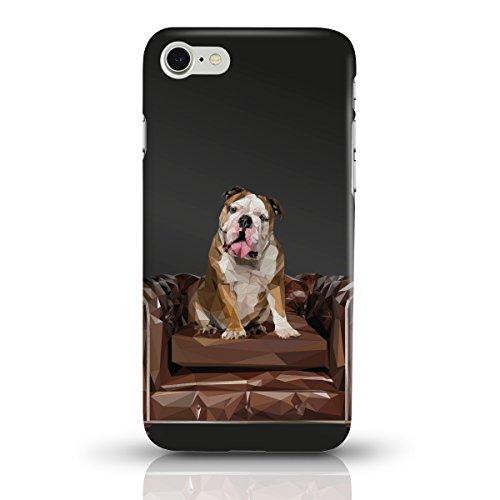 """JUNIWORDS Handyhüllen Slim Case für das iPhone 7 - """"Bunter Elefant schwarz"""" - Handyhülle, Handycase, Handyschale, Schutzhülle für Ihr Smartphone Bulldogge Schwarz"""