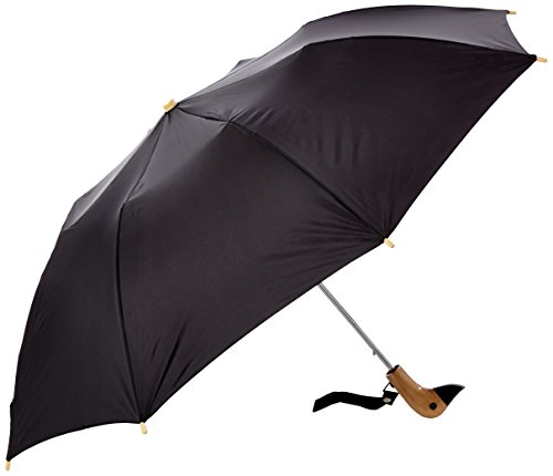 leighton-unisex-wooden-duck-head-umbrella-black