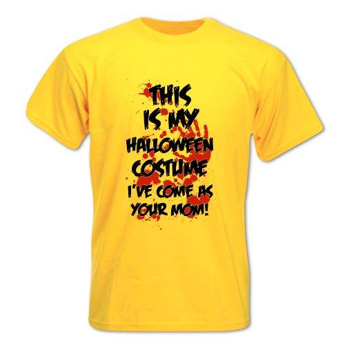 Herren Das Ist Mein Halloween-Kostüm, Ich Gehe Als Deine Mutter T-Shirt Gelb