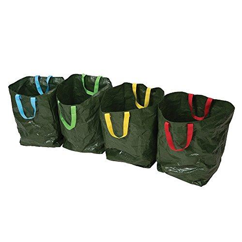 Silverline Tools 410631sacchi per raccolta differenziata verde 400x 320x 320mm, confezione da 4pezzi