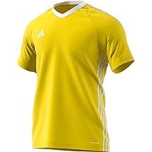 Adidas Tiro 17 Entrenamiento Camiseta, Todo el año, Infantil, Color Amarillo/Blanco