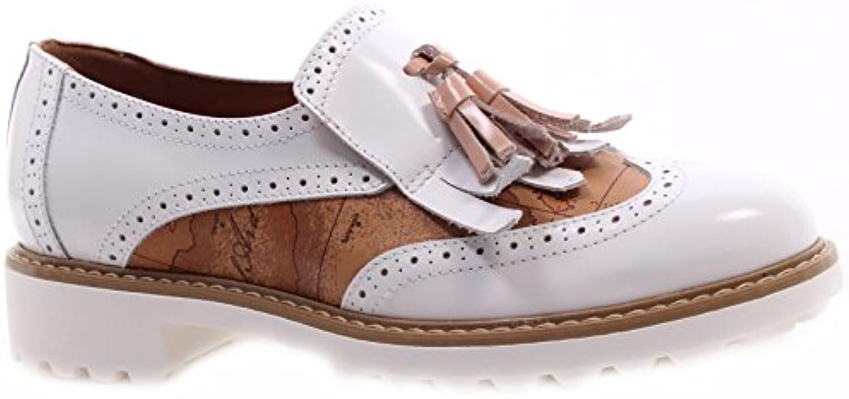 Scarpe Donna ALVIERO MARTINI 1°Classe Slip On Fringe bianca Milk Geo Bianche New | Moderno Ed Elegante Nella Moda  | Scolaro/Signora Scarpa