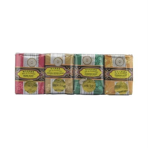 Bee and Flower Bar Soap Gift Set - 4 Bars by Bee & Flower (Bar Soap Gift Set)