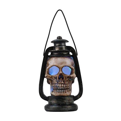 MB-Müller Lámpara de calavera de polirresina con luces LED