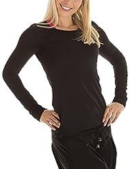 Winshape WS1 Tee-shirt à manches longues pour femme Coupe étroite Pour loisirs et sport S Noir - Noir