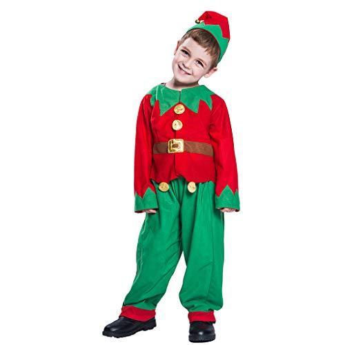 Unbekannt Weihnachts-Kinderkleidung, Elfen Anzug, Kinder Anzug, Weihnachts-Weihnachtsmann-Kostüm, Professioneller Weihnachtsmann-Anzug-Weihnachtskleid 3 ()