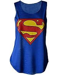 MyMixTrendz femme super-héros son vest débardeur avec imprimé superman