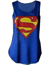 MyMixTrendz–Débardeur imprimé Superman pour femme