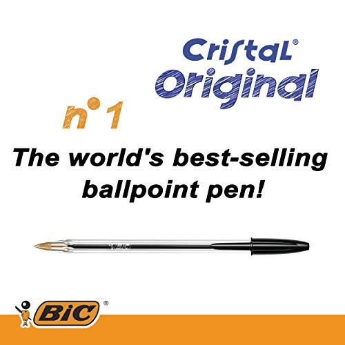 Bic Cristal Original Punta Media 1 mm Confezione 50 Penne Colore Nero - 3