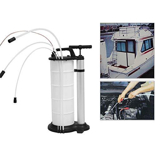 ABSAPE Ölabsaugpumpe, 9L Ölpumpe Auto Ölabsaugpumpe Handpumpe Flüssigkeitsabsaugpumpe Absaugpumpe,Weiß