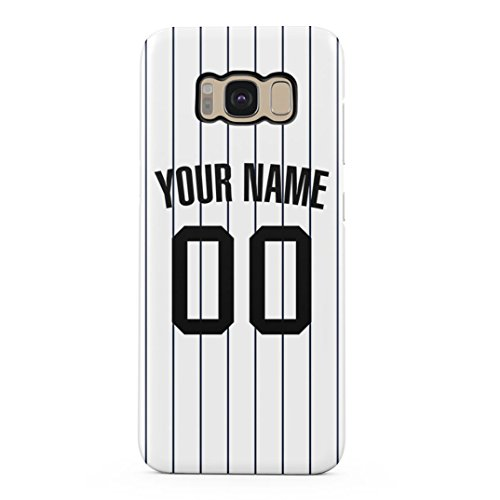 (Baseball Jersey Personalized Customizable Custom Name Initial Text Create Your Own Gift Present Schutzhülle aus Hartplastik Handy Hülle für Samsung Galaxy S8 Case Hard Cover)