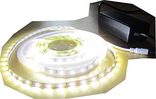 SET 12500 Lumen 5m X-Ultra Highpower Led Streifen mit 600 2835 LED's neutralweiß natur weiss naturweiß superhell inkl. Netzteil 24V (Pro-Serie) TÜV/GS geprüft von AS-S