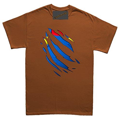 Renowned Retro inside italian character Unisex - Kinder T Shirt Braun