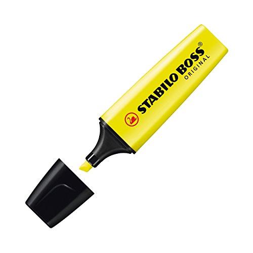 stabilo-70-24-boss-original-scatola-cartone-evidenziatori-2-5-mm-confezione-da-10-giallo