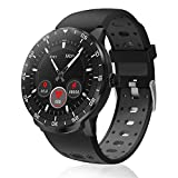 Smartwatch Donna Uomo,HopoFit HF06 Schermo Circolare Full Touch Orologio Intelligente Impermeabile,Attività Tracker con Monitor del Cardiofrequenzimetro,Contacalorie,Pedometro, per Android iOS (black)