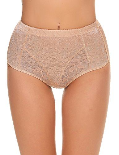 Ekouaer Damen Panty Gr. Medium, aprikose (Satin Boyshorts)
