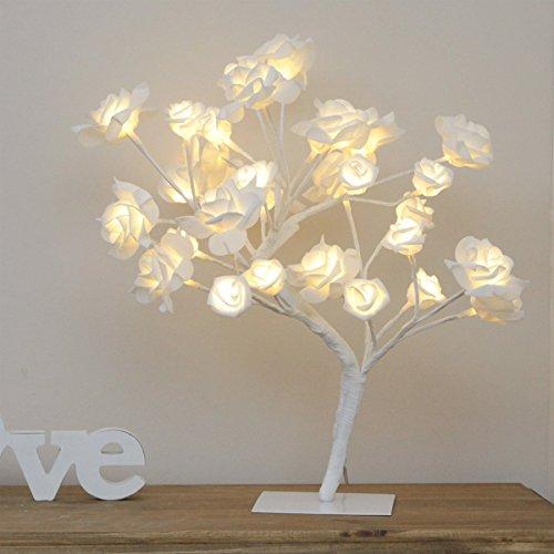Rosen Zweig Baum, 32 LED Lichter warmweiß, 45cm, von Festive Lights
