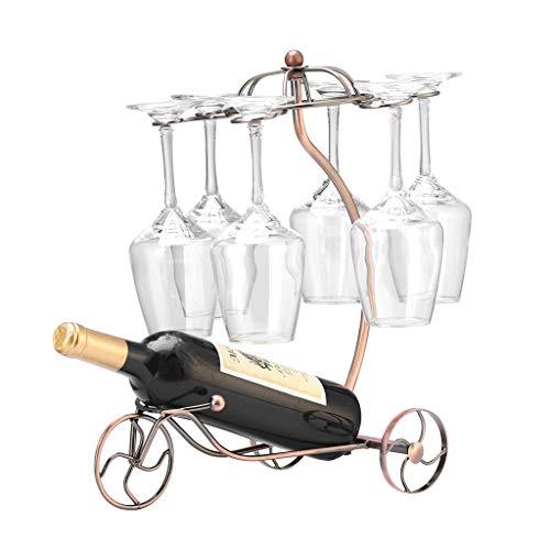 JIUJIAWA Weingläserständer Trockengestelle Aus Metall Weinflaschenhalter Freistehend,Eleganter Glasaufhänger Mit 6 Haken