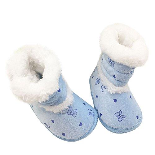 EFINNY Neugeborenes Baby Weiche Sohle Krippe Schuhe Säuglingskleinkind rutschfeste Stiefel Nette Pelzigen Winter Warme Prewalker Booties für 0-18 Monate (Stiefel Furry Winter)
