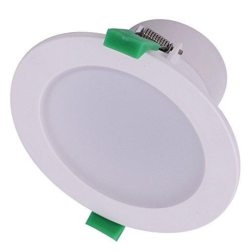 6 x 10 W LED Einbauleuchten Set Dimmbar 850 - 950lm LED Unterputz Deckenleuchten 3000 K Warm Weiß φ70 mm IP44 Licht (Satin White-spray-farbe)
