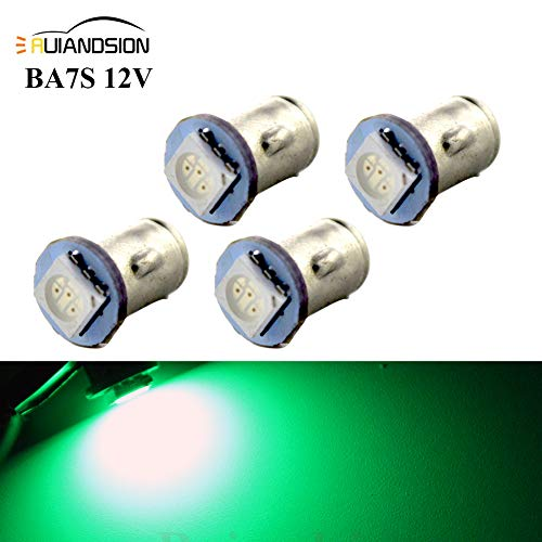 Ruiandsion 4x BA7S LED Éclairage intérieur pour auto 12V 5050 1SMD 30lm, vert