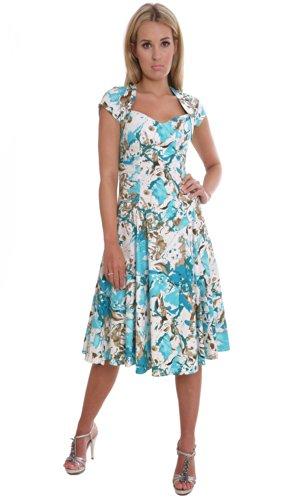 Elegantes Damen Sommerkleid Partykleid 50\'er Retro Stil von MontyQ ...