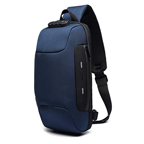 Secure Lock Usb (Dastrues Anti-Theft Backpack Men Anti-Theft Backpack with 3-Digit Lock Shoulder Bag Waterproof Anti-Theft Backpack with USB Charging Anti-Theft Backpack Lock for Mobile Phone Travel Men Women)