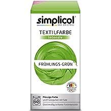 Simplicol Textilfarbe intensiv I Textilfärbung für die Waschmaschine I Färbemittel und Fixierpulver | Frühlings-Grün 1813