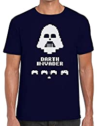 Funky NE Ltd Darth Invader Space Invaders Tshirt - 100% Cotton - Small to XXL - 9 Colours - Great Gift Idea by