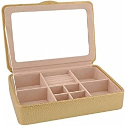 Jewelry box tray with lid and mirror