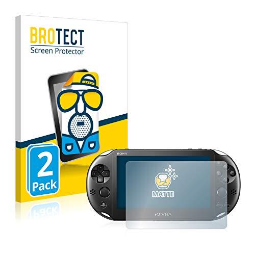 BROTECT Schutzfolie Matt für Sony PCH-2000-Serie PlayStation PS Vita Slim Touchpad [2er Pack] - Anti-Reflex
