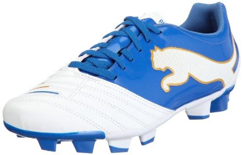 Puma PowerCat 4.12 FG 102482 Herren Sportschuhe - Fußball Weiss (white-puma royal-team gold 01)