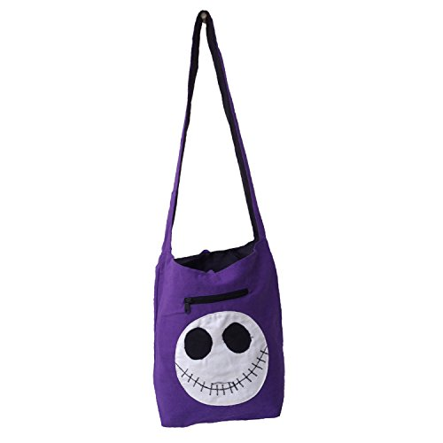Handloom coton Scary Face Patch indienne Jhola épaule College Sac