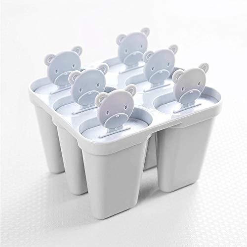 LATTCURE Wiederverwendbare Eisformen 6 Stück EIS am Stiel Formen Eiscreme Halter Wassereis Silikon Eislutscher Ideal für DIY Selbstgemachtes EIS für Kinder und Erwachseneten-Gefrierschrank (Rosa)