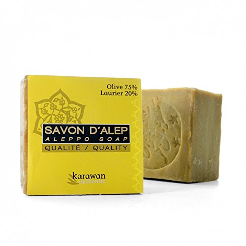 Naturseife - nach einem Rezept aus Aleppo - Aus 80% Olivenöl und 20% Lorbeeröl, 200g