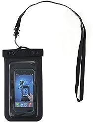 Sac téléphone étanche, Universal durable Underwater Dry Pouch, Touch sensible Transparent Windows, étanche scellé Système pour tous les appareils jusqu'à 15,2cm