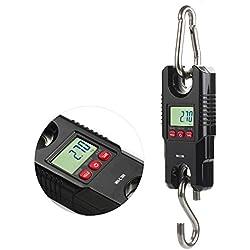 Báscula de suspensión digital RISEPRO®, con grúa de bolsillo para equipaje de pesca, 300kg (WH-C300)