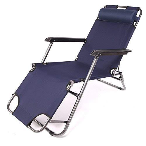 | Schwerkraft Patio Lounge Chair Recliner übergroßen gepolsterten frei-Anpassung Heavy Duty Garten Außen Hof Unterstützung 300lbs, 2 Pack (Farbe : 1 Pack) ()